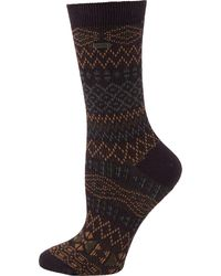 Sorel Cotton Jacquard Pattern Crew Socks - Multicolor