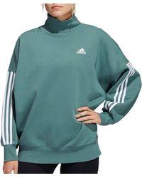 adidas Postgame Mock Neck Sweatshirt - Green