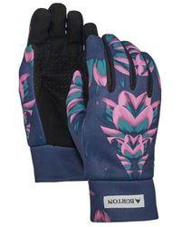 Burton Touch N' Go Printed Liner Gloves - Blue