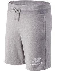 New Balance Essentials Stacked Logo Shorts - Gray