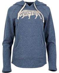 United By Blue Wild & Free Pullover Hoodie - Blue