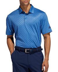 adidas Ultimate365 Logo Golf Polo - Blue