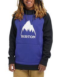 Burton Crown Bonded Pullover Hoodie - Blue