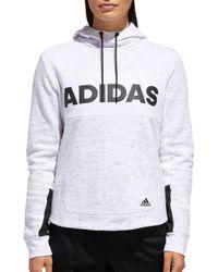 adidas - Post Game Fleece Pullover Hoodie - Lyst