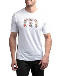Travis Mathew Not So Silent Night Golf T-shirt - White