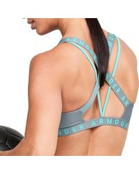 Under Armour Strappy Wordmark Sports Bralette - Blue