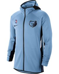 Nike Memphis Grizzlies On-court Therma Flex Showtime Full-zip Hoodie - Blue