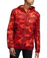 adidas - Own The Run Camouflage Running Jacket - Lyst