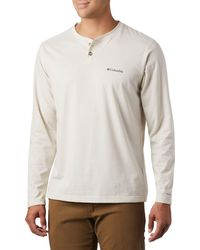 Columbia Thistletown Park Long Sleeve Henley Shirt (regular And Big & Tall) - Multicolor