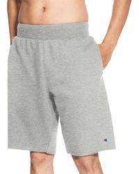 Champion Life Reverse Weave Cut Off Shorts - Gray