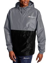 Champion Colorblocked Packable Jacket - Gray