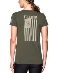 d8a5b7ef85 Women's Ua Freedom Flag T-shirt