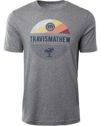Travis Mathew Pursuit Of Hoppiness Short Sleeve Golf T-shirt - Gray