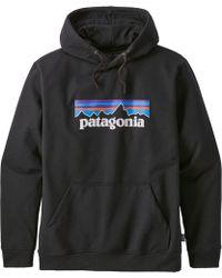 Patagonia P-6 Logo Uprisal Hoodie - Black