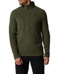 Mountain Hardwear Microchill 2.0 1⁄2 Zip Fleece Pullover - Green
