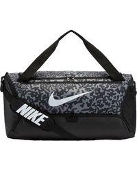 Nike Brasilia Printed Training Duffel Bag - Black