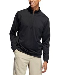 adidas Classic Club 1⁄4 Zip Golf Pullover - Black