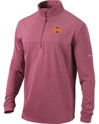 Columbia Iowa State Cyclones Cardinal Omni-wick Soar Half-zip Pullover Shirt - Pink