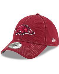 KTZ Arkansas Razorbacks Cardinal Sideline Road 39thirty Stretch Fit Hat - Red