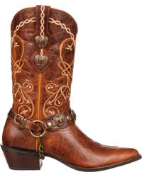 Durango Crush By Womens Heartbreaker Concho Boot - Brown