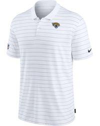 Nike - Jacksonville Jaguars Sideline Early Season White Performance Polo - Lyst