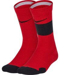 Nike - Youth Elite Basketball Crew Socks 2 Pack - Lyst