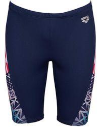 Arena Bishamon Usa Swim Jammer Swimsuit - Blue