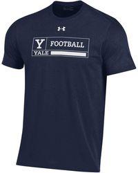 Under Armour Yale Bulldogs Yale Blue Performance Cotton Football T-shirt