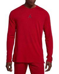 1096735b Nike Dry 23 Alpha Training Hooded Long Sleeve Shirt in Red for Men ...