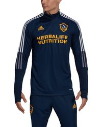 adidas - Los Angeles Galaxy Navy Training Quarter-zip Pullover Shirt - Lyst