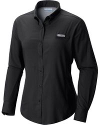 Columbia Pfg Tamiami Ii Long Sleeve Shirt - Black