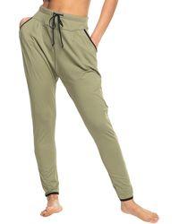Roxy Love Ain't Enough Yoga Pants - Green