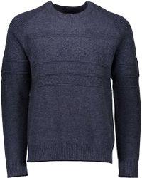 Obermeyer Textured Crewneck Sweater - Blue