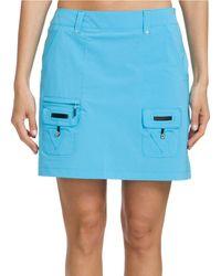 Jamie Sadock Airwear Side Zip Golf Skort - Blue