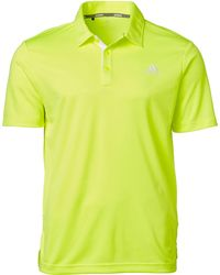 adidas Drive Novelty Solid Golf Polo - Yellow