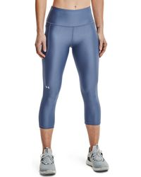 Under Armour - Heat Gear High Rise No-slip Waistband Capri Pants - Lyst