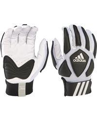 adidas Adult Scorch Destroy Lineman Gloves - White