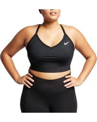 076452b0a26d9 Nike - Plus Size Solid Indy Sports Bra - Lyst