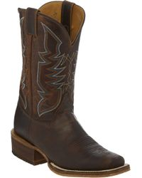Justin Boots Justin Navigator Cognac Western Boots - Brown