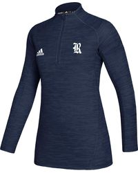 adidas - Rice Owls Blue Game Mode Sideline Quarter-zip Shirt - Lyst