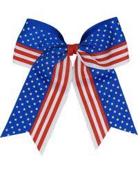 Soffe Girls' Patriotic Hair Bow - Blue