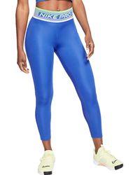 Nike Pro Dri-fit 7/8 Tights - Blue