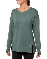 Reebok - Side Slit Fleece Sweatshirt - Lyst