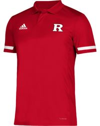 adidas Rutgers Scarlet Knights Scarlet Team 19 Sideline Football Polo - Red