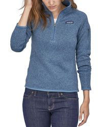Patagonia Etter Sweater 1/4 Zip Pullover - Blue