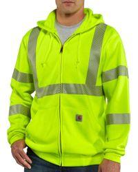 Carhartt   High-visibility Class 3 Full Zip Hoodie   Lyst