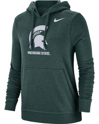 Nike - Michigan State Spartans Green Club Fleece Pullover Hoodie - Lyst