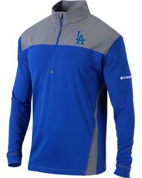Columbia Los Angeles Dodgers Dodger Blue Omni-wick Standard Half-zip Pullover Shirt