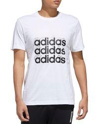 adidas Triple Logo Graphic T-shirt - White