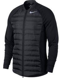 Nike Aeroloft Hyperadapt Golf Jacket - Black